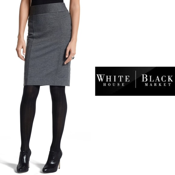 White House Black Market Dresses & Skirts - WHBM Ponte Knit Gray Pencil Skirt